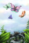 butterflies flower hill